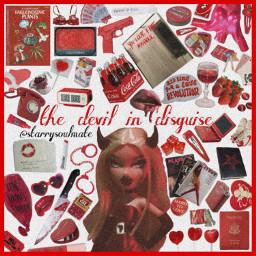 freetoedit moodboard red redmoodboard devil