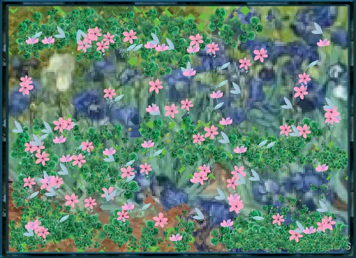#freetoedit #garden #paintedgarden #paintedfield #field #flowers