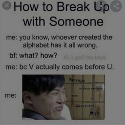 v jimin breakupline meme