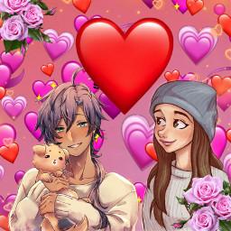 freetoedit cute anime couples cartoons