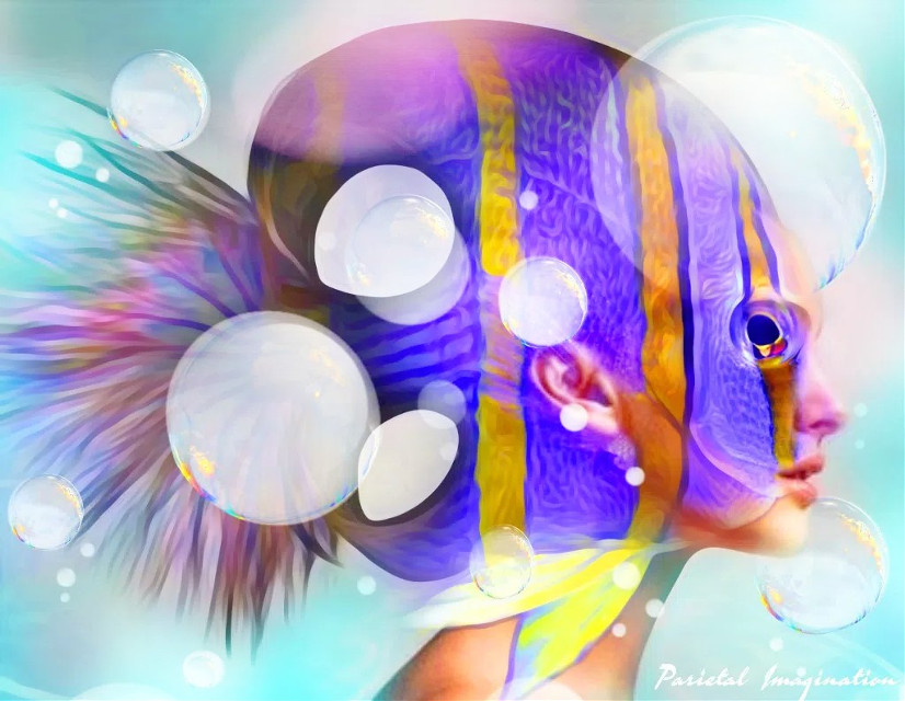 Edit by: Parietal Imagination Art  @pa (Twitter, FB and Instagram) #papicks #surreal #surrealism #fish #avantgarde #freetoedit #magicfx #vip #madewithpicsart #parietalimagination