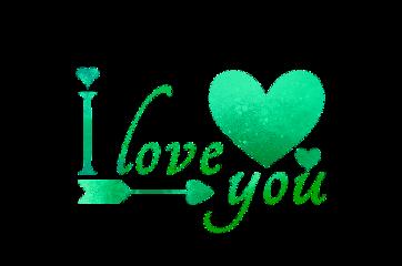 iloveyou love heart green arrow freetoedit