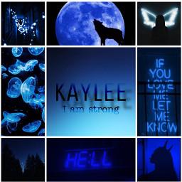 kaylee blue black aesthetic moodboard freetoedit