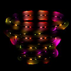 freetoedit neon swirl spiral glow ftestickers