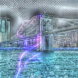 fatal1 neon bridge ocean originalphoto fcstayinspired stayinspired