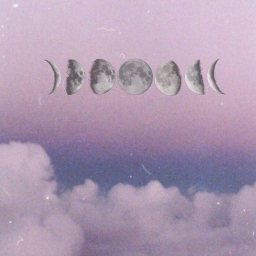 moon purple clouds aesthetic wallpaper