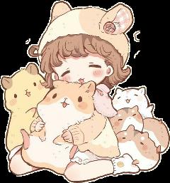 fille girl jaune hamster fillehamster freetoedit