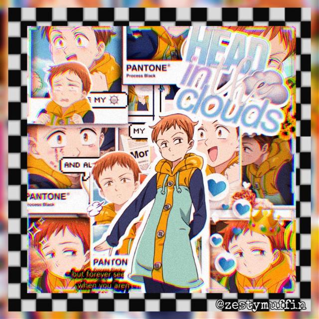 HBD KING!!!!!  #king #sds #sevendeadlysins #nanatsunotaizai #nnt #anime #animeedit #animeboy #babyboi #birthdayedit #freetoedit
