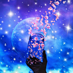 freetoedit flordecerejeira flower flor galaxy srccherryblossompetals