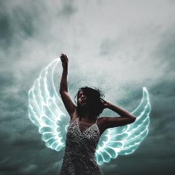 freetoedit neon wings neonwings neonlove