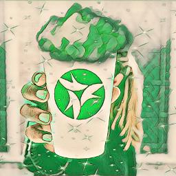 freetoedit itworks itworksketocoffee greenmagiceffect picsart irccoffeecupdecoration