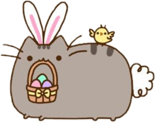 paques pusheen defipaques autocollant kawaii freetoedit sceaster easter