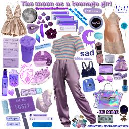 niche nichememe moon aesthetic teenage freetoedit