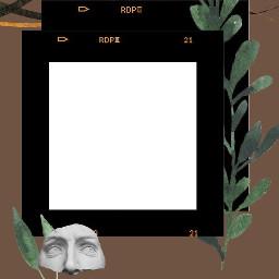 brown aesthetic frame freetoedit plants