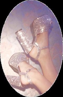 aesthetic glitter shine sparkle shoe freetoedit