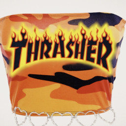 trasher croptop shirt desinger firewear
