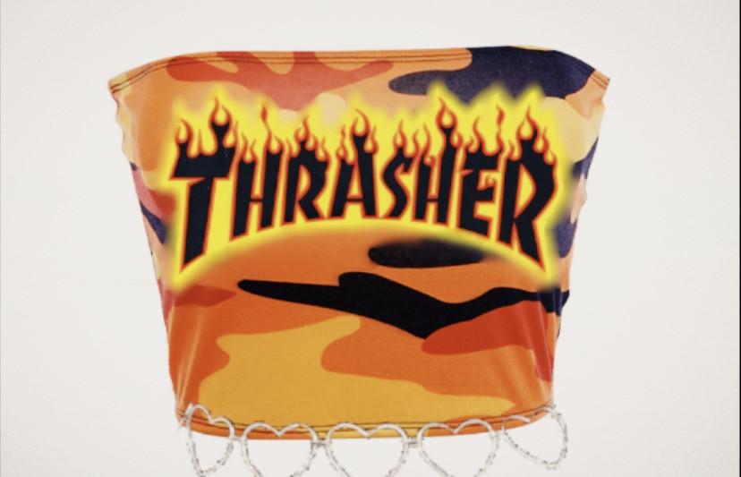#trasher #croptop #shirt #desinger #fireWear