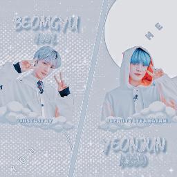 yeonjun beomgyu txt tomorrowxtogether blue freetoedit
