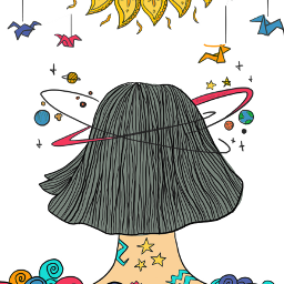 freetoedit coloringbook galaxy girl eccoloringbook
