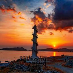 sunset sisimanlighthouse landscape sunset_vision seascape