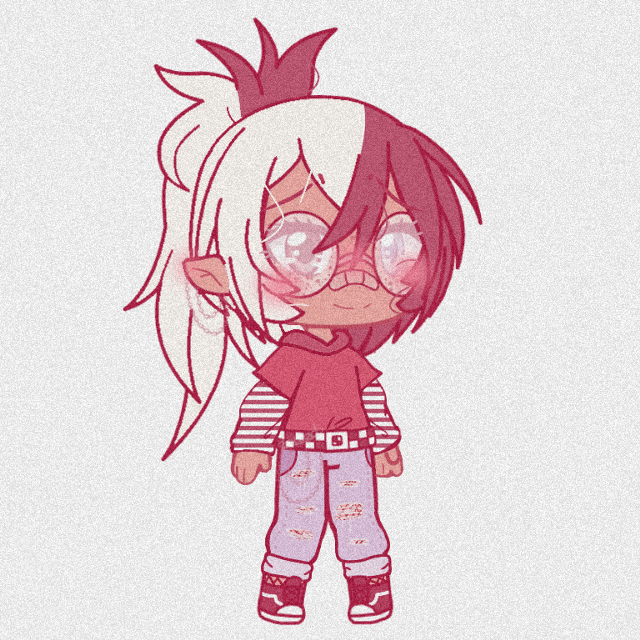 2: new clothes  ●●● ahah- i tried to make a custom outfit but it's not that goOd sOooo  ●●● #gacha #gachalife #gachaedit #oc #occhallenge