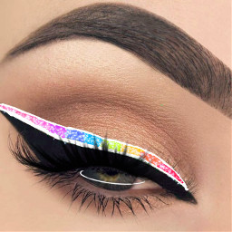 freetoedit eyeliner eye rainbow rainbowmakeup