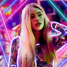 freetoedit picsart remix wallpaper girl srcneonlines neonlines