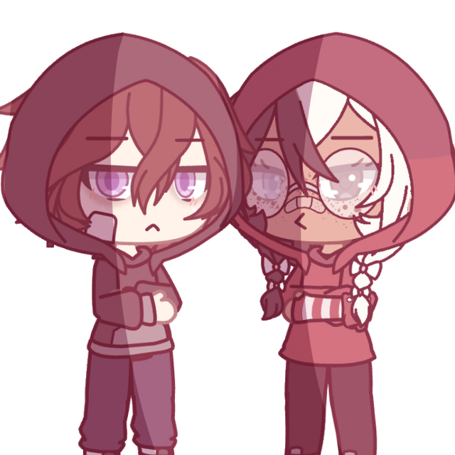 7: with another oc - - - i don't even know anymore but they're hoodie buddies uvu - - - also i want to make a new yt video so what would you guys like to see????? - - - #gacha #gachalife #gachaedit #oc #occhallenge