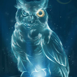 scifiart scifi owl bird creqture sciencefiction sciencefictionart freetoedit