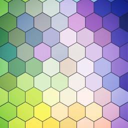 wallpaper pastel colorful form hexagon