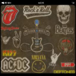 rock metal acdc nirvana hard freetoedit