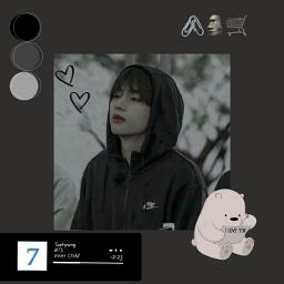 freetoedit kimtaehyung grey monochrome taehyung