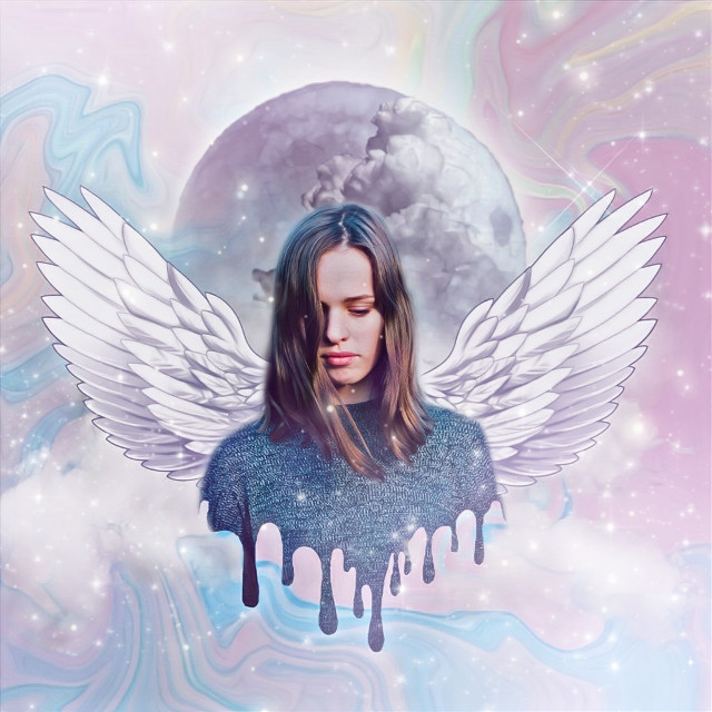 HAPPY 17K💜 #freetoedit #dripp #drippingeffect #drippeffect #dripping #wings #moon #sky #holographic #artistic #createfromhome #stayinspired #holographic