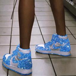 jordan1 blue glitter freetoedit