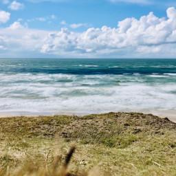 northsea denmark travel clouds blue freetoedit