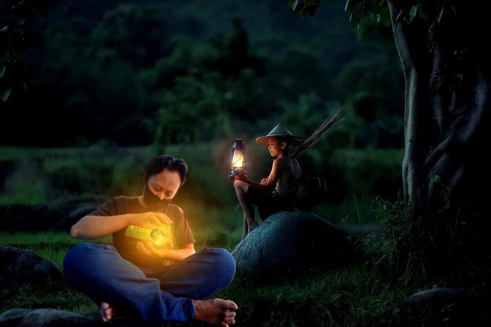 Malam hari #freetoedit #malam #pedesaan