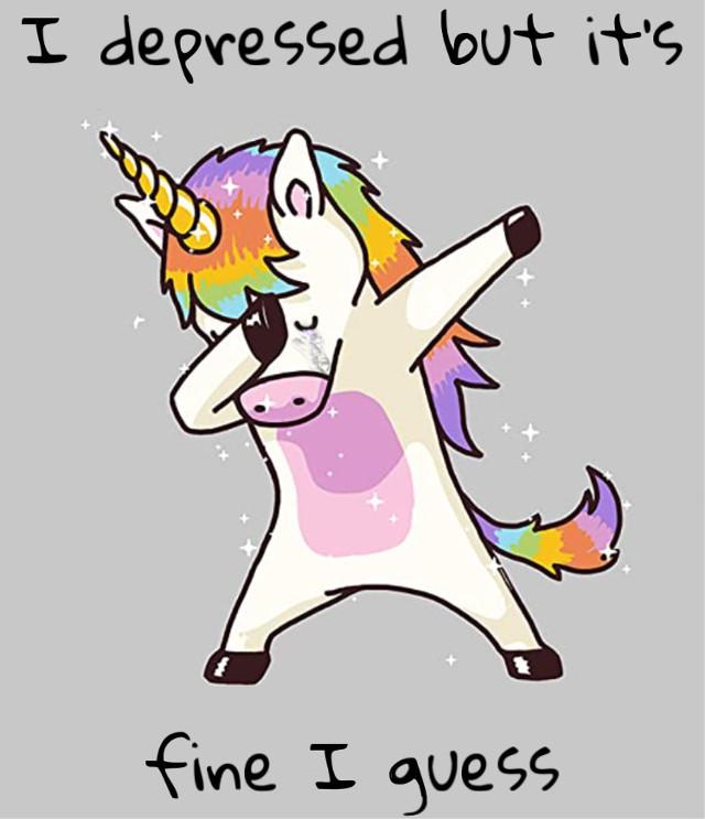 #freetoedit #sad #fine #unicorn #dab #art #interesting #people #sadness #cold #cry