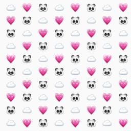 freetoedit panda heart emojibackground background