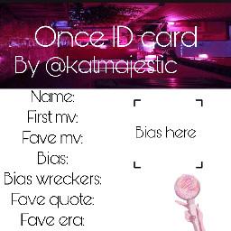 kpop once twice idcard freetoedit