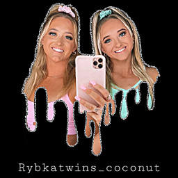 rybkatwins twins dripping art happy freetoedit