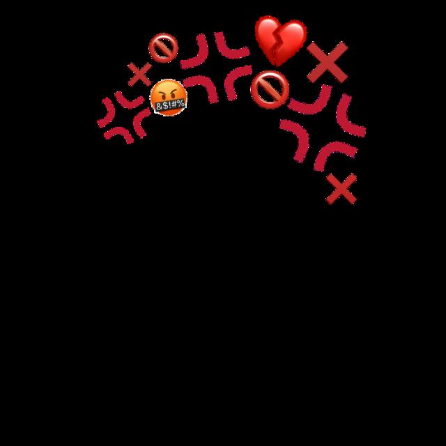 #freetoedit #emoji #redemoji #noemoji #heartbreakemoji #prohibited #x #redx #mademoji #angryemoji #anger #angy #angry #emojicrown #angrycrown