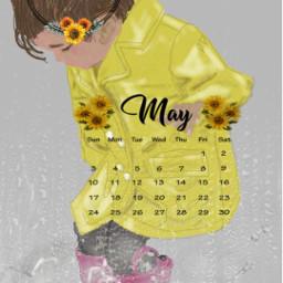 freetoedit springtimepuddles welcomemay showersandsunflowers mypainting srcmaycalendar maycalendar maycalender