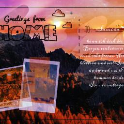 freetoedit sonnenuntergang challenges ecpersonalizedpostcards personalizedpostcards