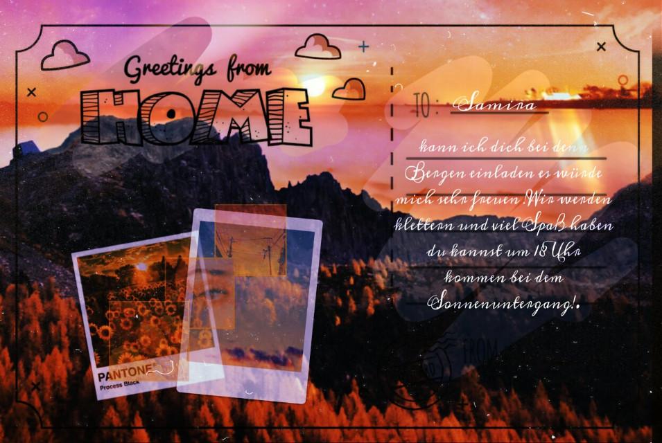 #freetoedit #sonnenuntergang#challenges  #ecpersonalizedpostcards #personalizedpostcards