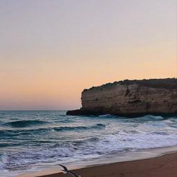 sunsettime peaceful quite beachsunset wavescrashing freetoedit