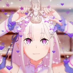 freetoedit emilia rezero anime wholesome