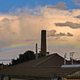 rainbow sky clouds spring photo