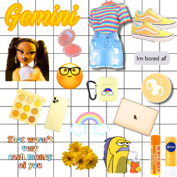 freetoedit zodiac cute gemini