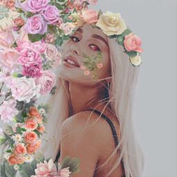 freetoedit arianagrande flower eye flowereyes ecflowereyes