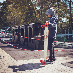 interesting playground playtime boy longboard
